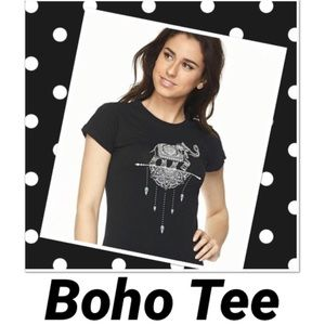 Haia Boho Elephant Graphic Black Tee